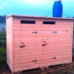 Деревянный душ+туалет